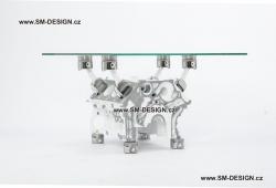 Audi A8 - stůl s vůní benzínu (bílý)