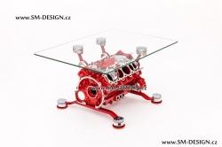 Ferrari F430 - stůl s vůní benzínu (červená)