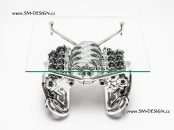 Exklusivní stůl z hlav a sání Audi V8
