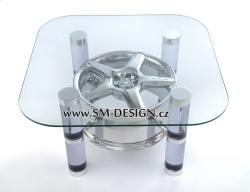 Mercedes Benz AMG - stůl s vůní benzínu (sklo)