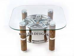 Porsche Turbo - stůl s vůní benzínu (dřevo)